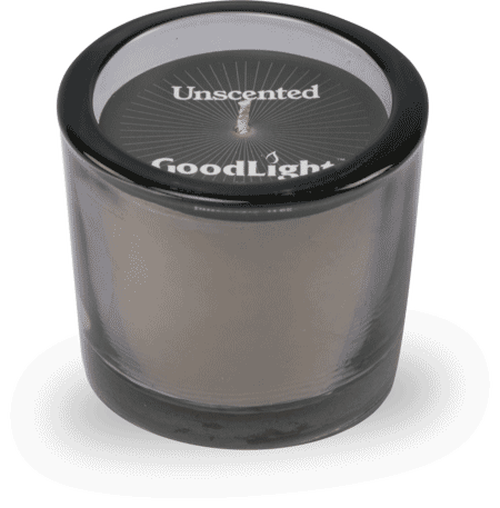 GoodLight Candle Unscented White Tinted Votive
