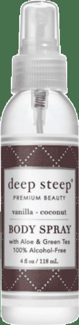 Deep Steep Vanilla Coconut Body Spray