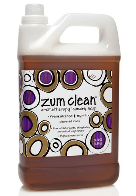 Zum Clean Laundry Soap - Frankincense & Myrrh - 64 oz.