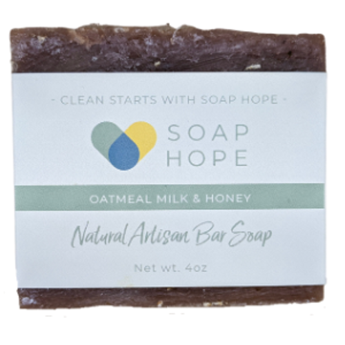 Natural Artisan Soap Bar - Oatmeal, Milk & Honey