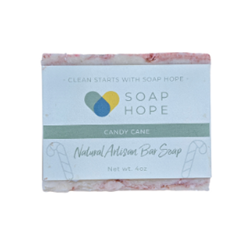 Natural Artisan Soap - Candy Cane