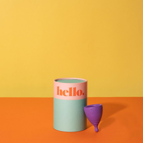Hello Cup - L (large) Purple