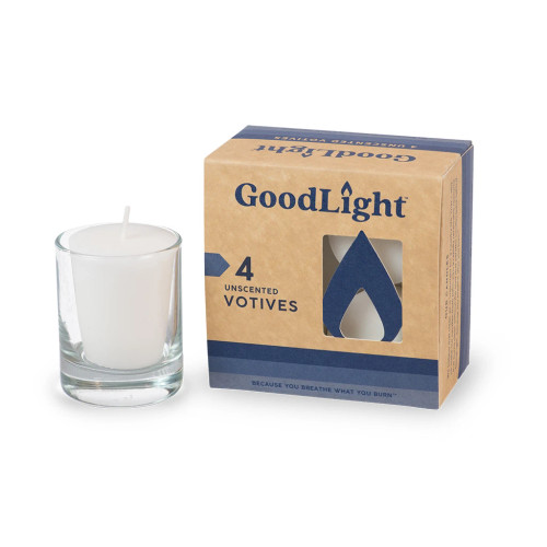 Votive Candles (Unscented) - 4 Pack