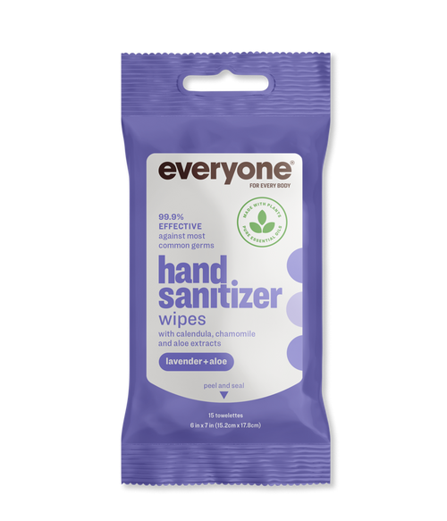 Lavender + Aloe Resealable Hand Sanitizer Wipes