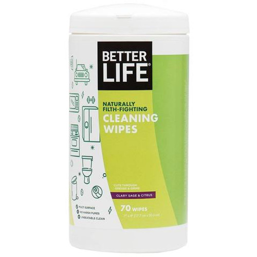 Naturally Filth-Fighting Cleaning Wipes - Clary Sage & Citrus (70)