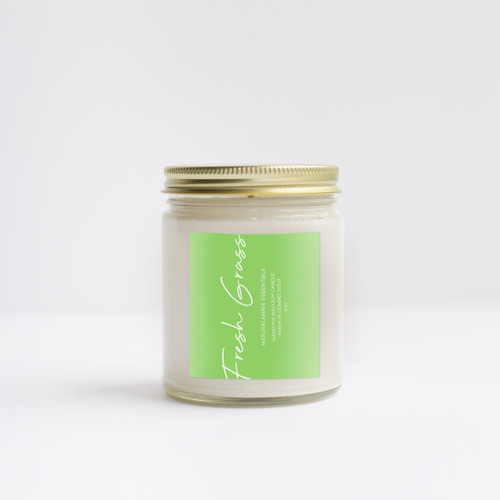 FRESH GRASS Scented Soy Candle