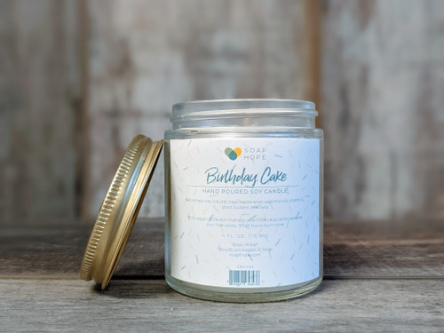Birthday Cake - Hand Poured Candle