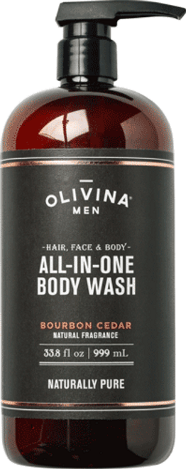 All-In-One Body Wash - Bourbon Cedar 33.8 fl oz