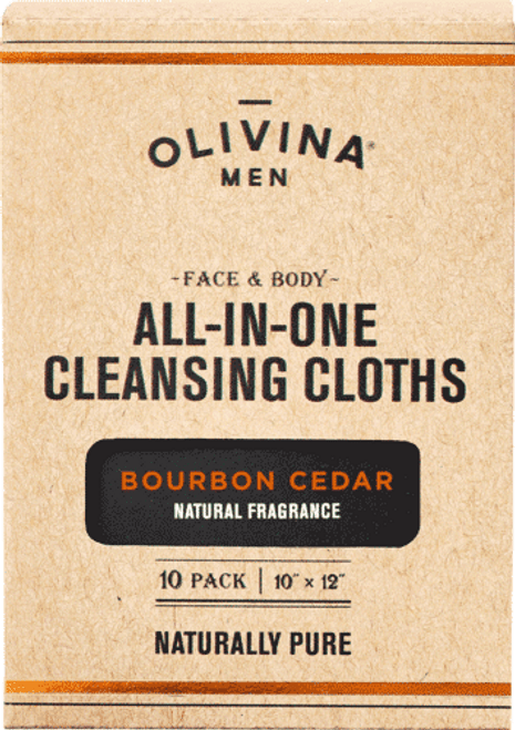 Bourbon Cedar Facial Cleansing Wipes