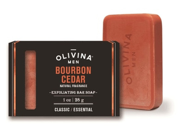 Exfoliating Soap Bar - Bourbon Cedar 1 oz Travel