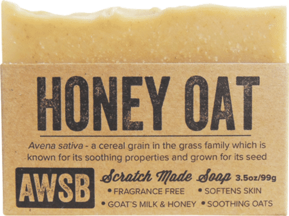A Wild Soap Bar Honey Oat Organic Soap Bar