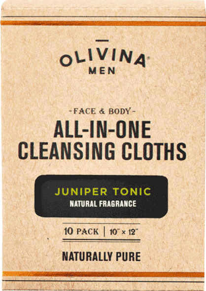 Juniper Tonic Facial Cleansing Wipes