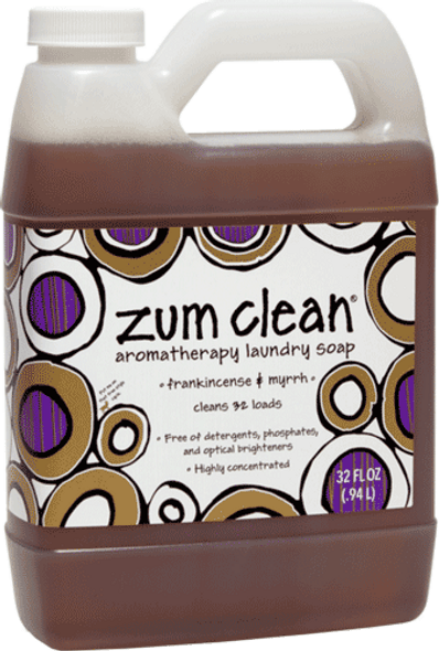 Zum Clean Laundry Soap - Frankincense & Myrrh - 32 oz