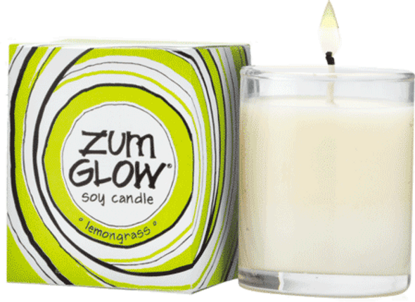 Indigo Wild Lemongrass Zum Glow Glass Votive
