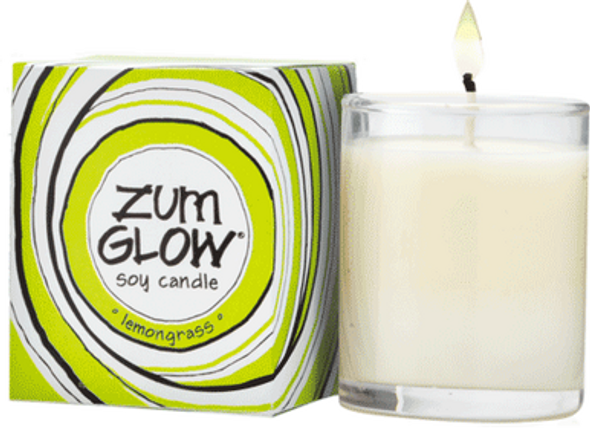 Lemongrass Zum Glow Glass Votive