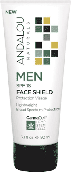 Andalou Naturals Men Spf 18 Face Shield