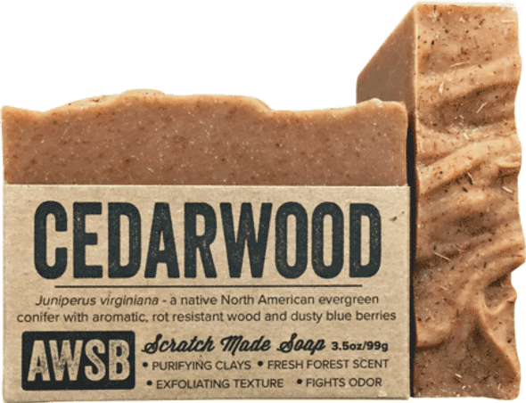 A Wild Soap Bar Organic Cedarwood Organic Soap Bar
