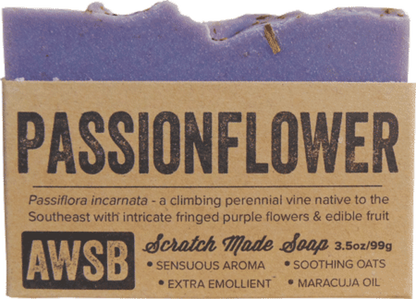 A Wild Soap Bar Passionflower Organic Soap Bar