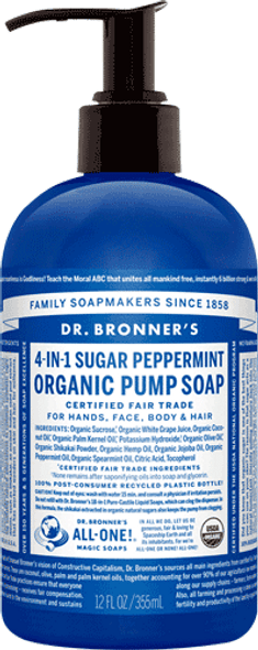 Dr. Bronner's Peppermint Liquid Hand Soap
