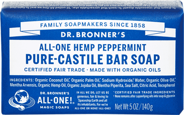 Dr. Bronner's Peppermint Soap Bar