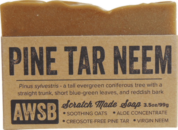 Pine Tar Neem Oil Organic Soap Bar