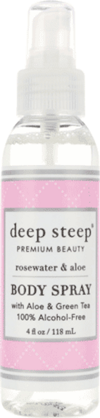 Deep Steep Rosewater Aloe Body Spray