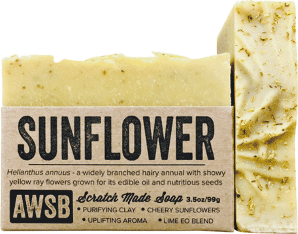 A Wild Soap Bar Sunflower Organic Soap Bar