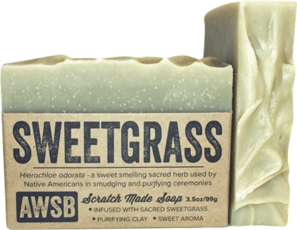 A Wild Soap Bar Sweetgrass Organic Soap Bar
