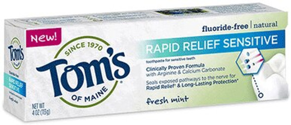 Rapid Relief Sensitive Fluoride Free Toothpaste - Fresh Mint