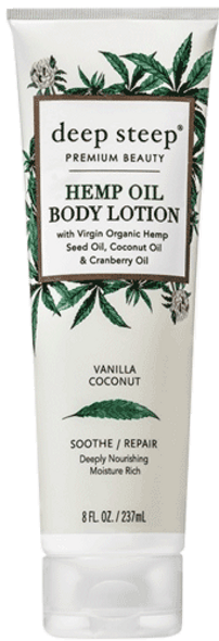 Deep Steep Vanilla Coconut Hemp Oil Body Lotion