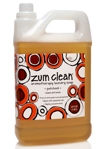 Zum Clean Laundry Soap - Patchouli - 64 oz.