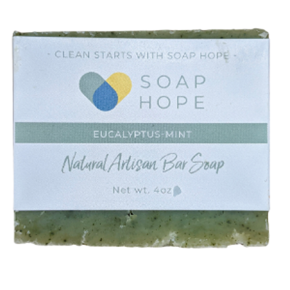 Natural Artisan Soap Bar - Eucalyptus-Mint