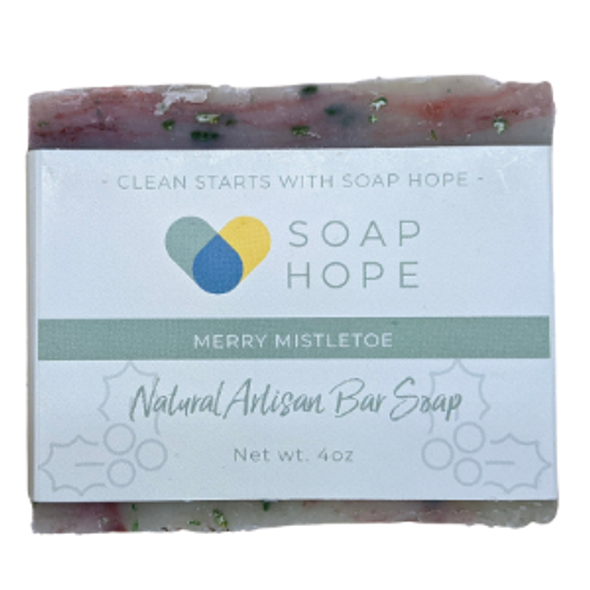 Natural Artisan Soap Bar - Merry Mistletoe