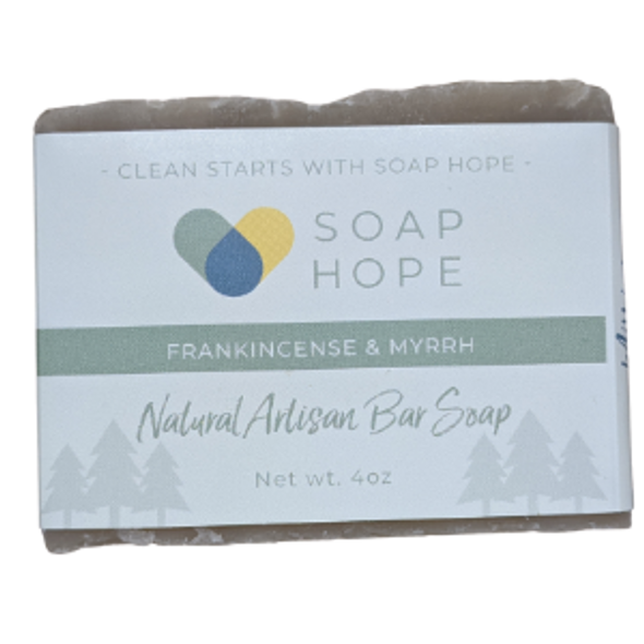 Natural Artisan Soap Bar - Frankincense & Myrrh