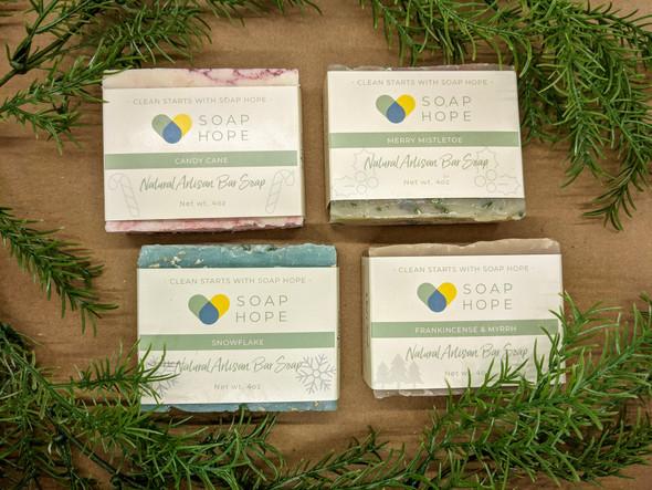 Natural Artisan Soap Bar Holiday Box