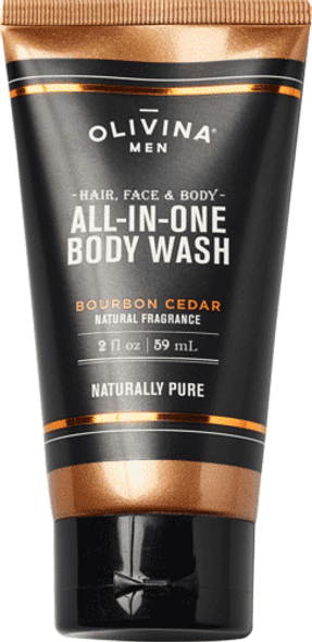 All-In-One Body Wash - Bourbon Cedar 2.5 fl oz