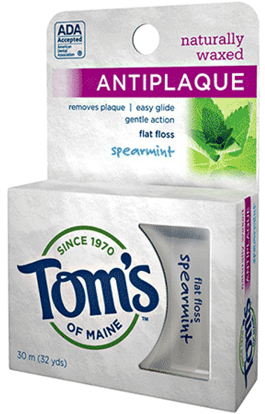 Tom's of Maine Antiplaque Flat Floss - Spearmint