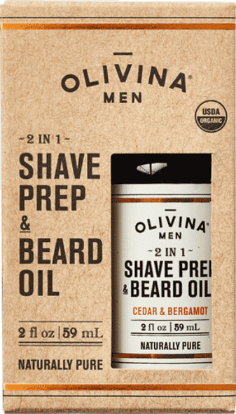 2 in 1 Shave Prep & Beard Oil - Cedar & Bergamot 2 fl oz