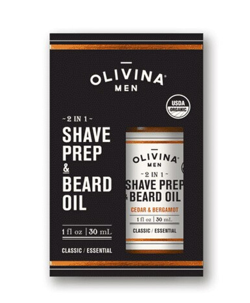 2 in 1 Shave Prep & Beard Oil - Cedar & Bergamot 1 fl oz