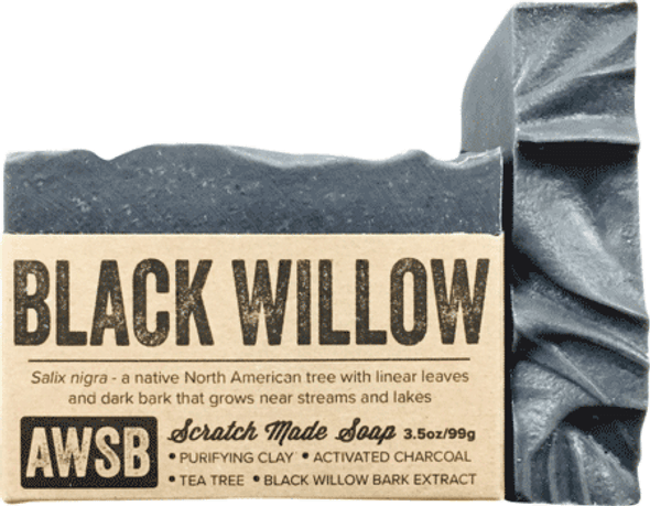 A Wild Soap Bar Black Willow Bark Organic Soap Bar