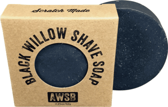 A Wild Soap Bar Black Willow Bark Shaving Soap