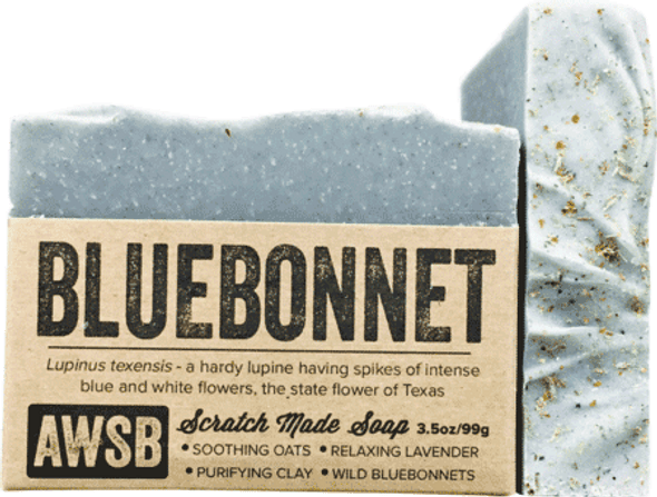 A Wild Soap Bar Bluebonnet Organic Soap Bar