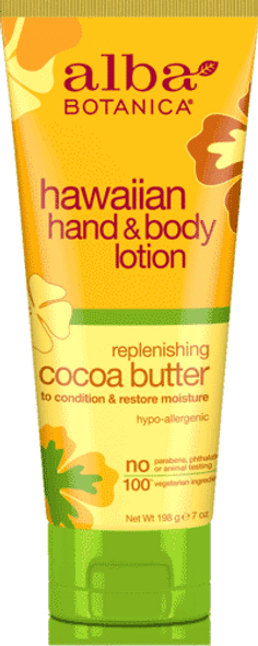Hawaiian Hand & Body Lotion - Replenishing Cocoa Butter (7 oz.)