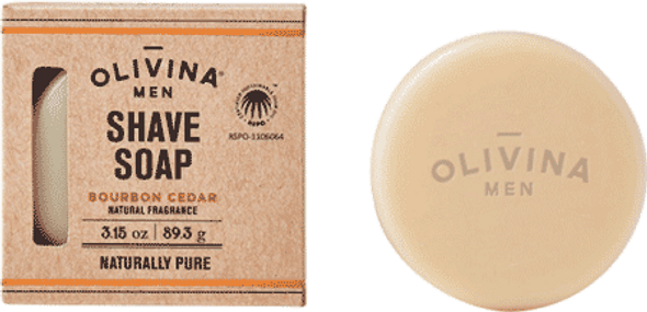 Olivina Men Bourbon And Cedar Shaving Soap