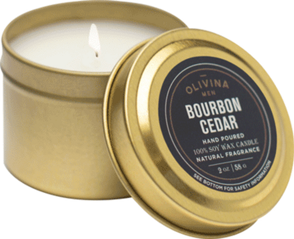 Bourbon Cedar Candle 2oz