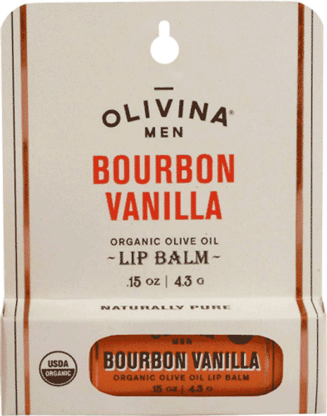 Olivina Men Bourbon Vanilla Lip Balm