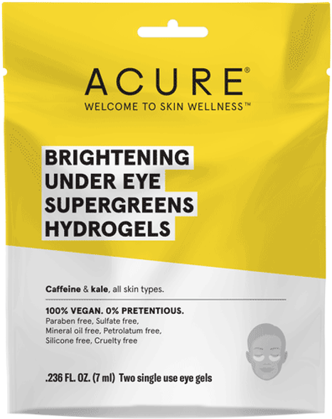 Acure Brightening Under Eye Supergreens Hydrogels