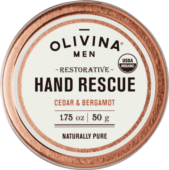 Olivina Men Cedar And Bergamot Hand Cream
