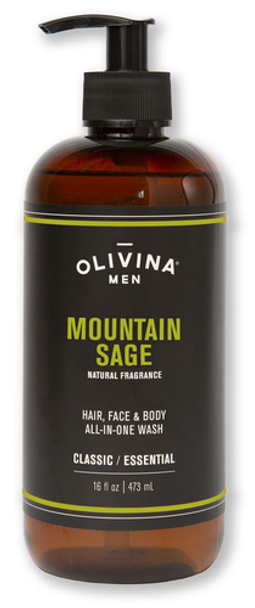 Olivina Men Mountain Sage Shower Gel