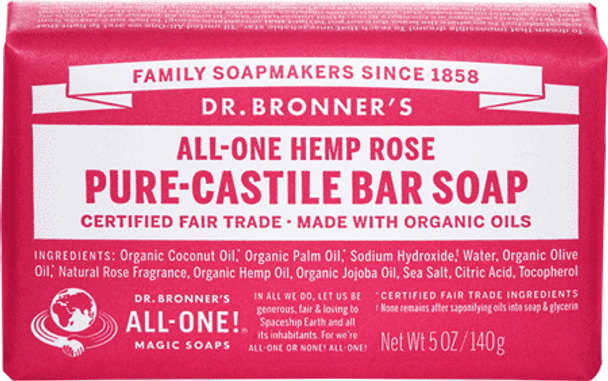Dr. Bronner's Rose Soap Bar